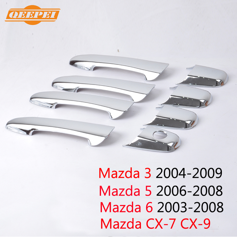 QEEPEI 8PCS Door Handles For Mazda 3 2004-2009 Mazda 5 2006-2008 Mazda 6 2003-2008 CX-7 CX-9 2007 2008 QDC010