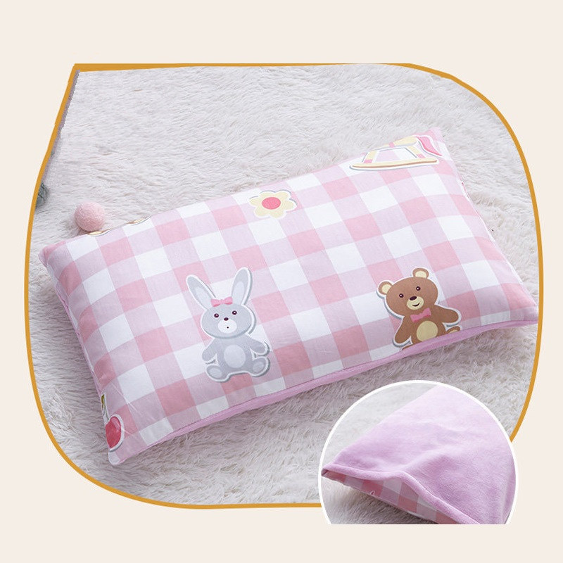 Rectangle Kids Pillow Lovely Children Head Cushion Student Nap Pad Anti Roll Shaping Pillow For Baby Infant Sleeping Support