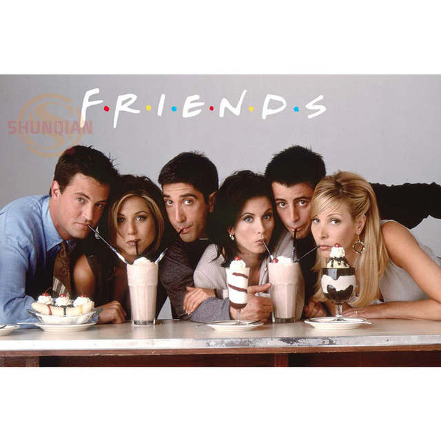 Best Nice Custom Friends TV Show Poster Classical Cloth Fabric For Bedroom Silk Canvas