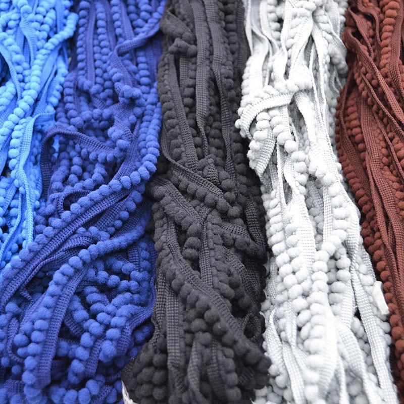 Lace Fabric 5 Yard/lot 11mm Tassel Ball Fringe Ribbon DIY Material Apparel Sewing Accessories Pompom Trim Pom Pom Decoration 7Z