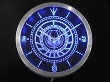 nc0200 Battlestar Galactica Neon Sign LED Wall Clock