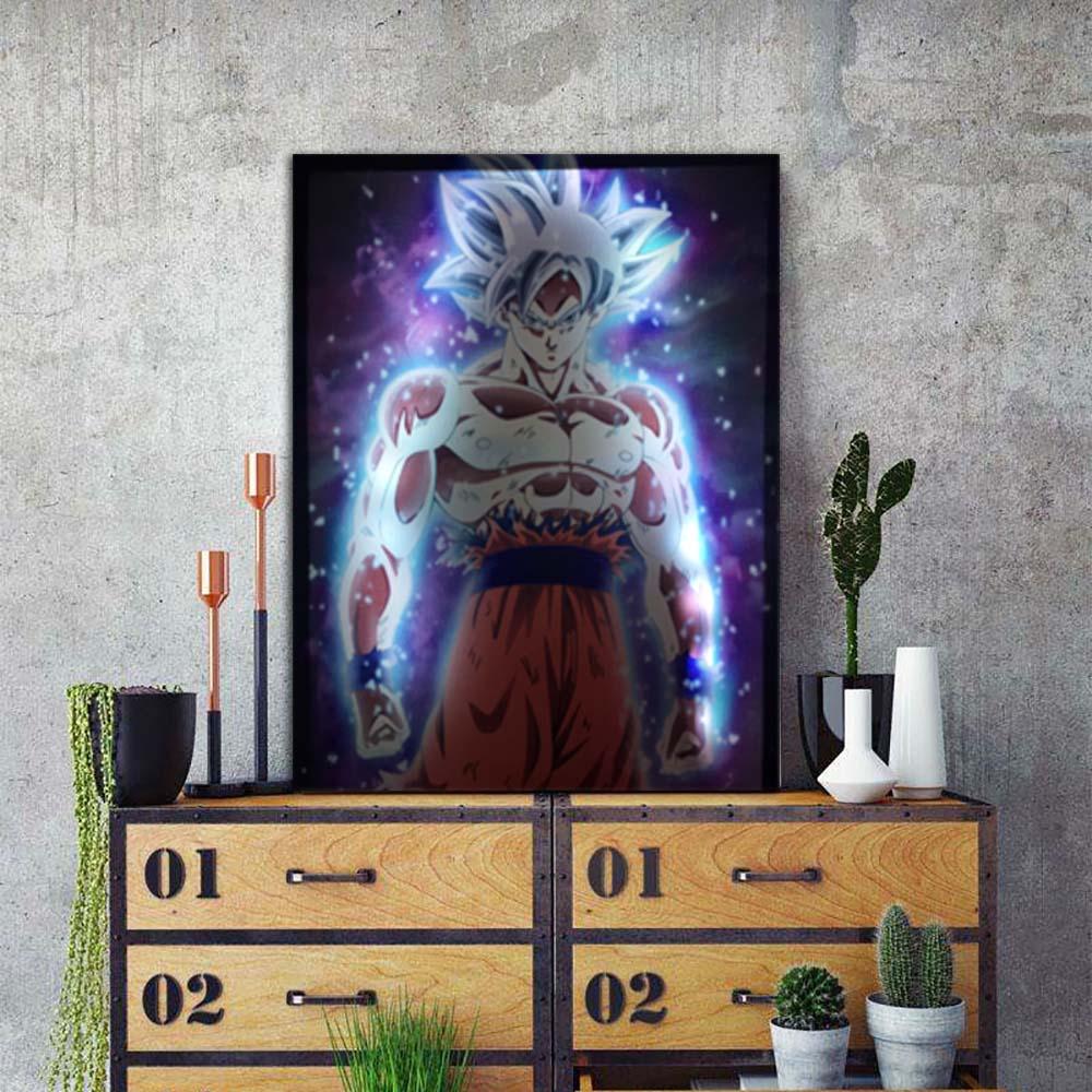 LED Super Saiyan Goku Framed Canvas Painting - Canvas Paintings Under $500