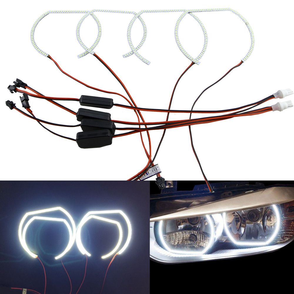 4pcs lot WHITE led 3014 SMD Angel Eyes Halo Rings lights For BMW F30 F31 F32