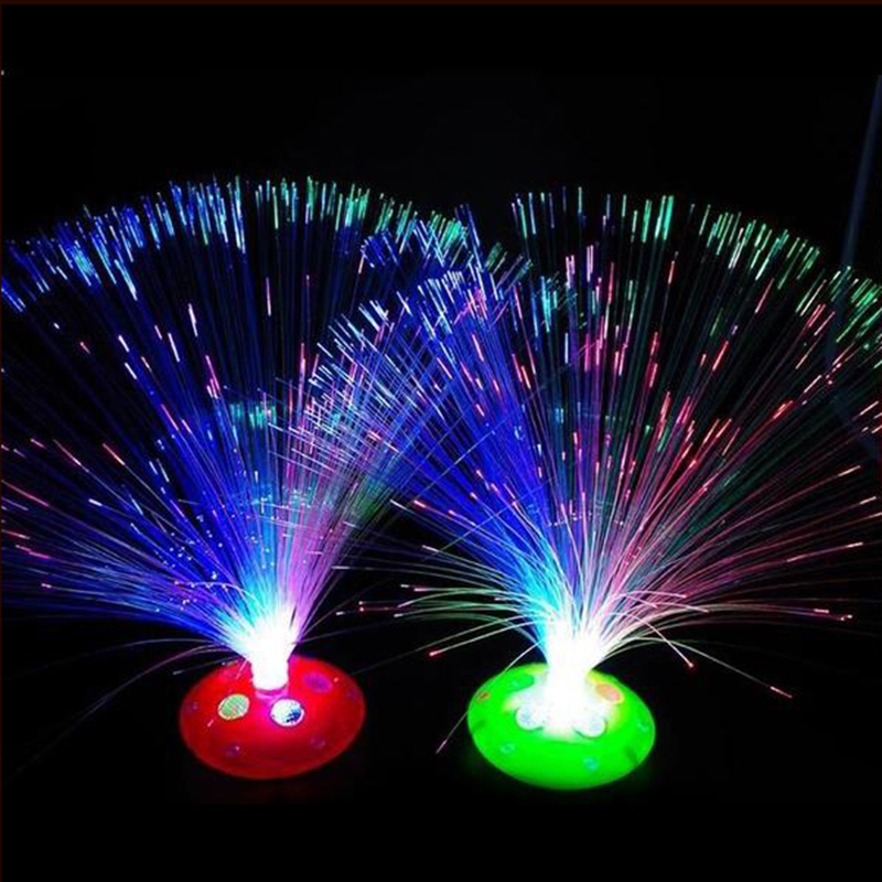 28cm Optical Fiber String Night Light Fairy Rope Lamp AA Battery Operated Ideal For Home Wedding Party Christmas Decor Supplies