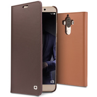 QIALINO for Huawei Ascend Mate 9 Handmade Genuine Leather Cover for Huawei Mate 9 pro Luxury Ultra Slim Flip Case 5.9 holster