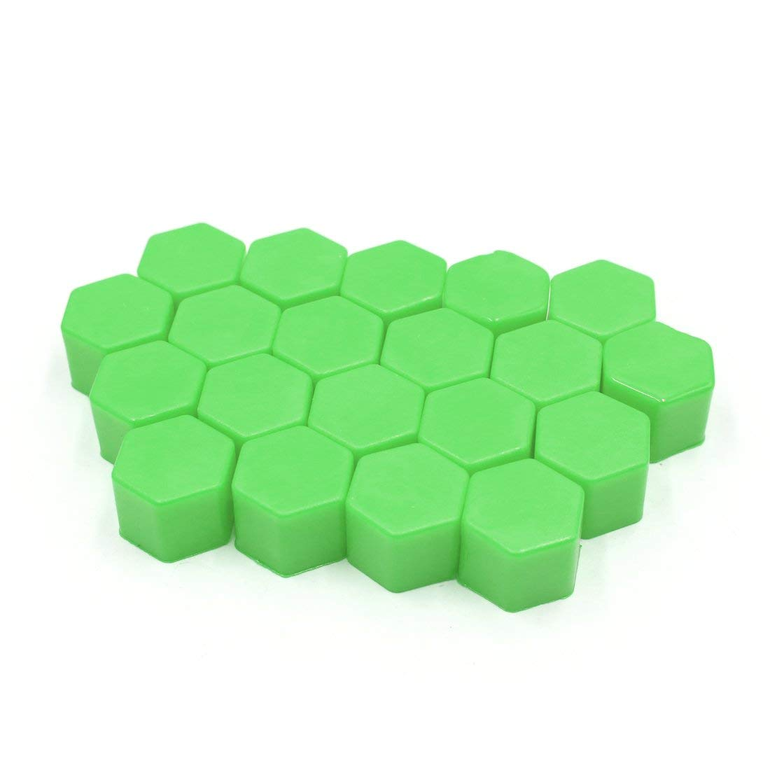 uxcell 20Pcs Green Silicone 19mm Car Wheel Nut Lug Hub Covers Screw Dust Protect Caps Hub Caps     - title=