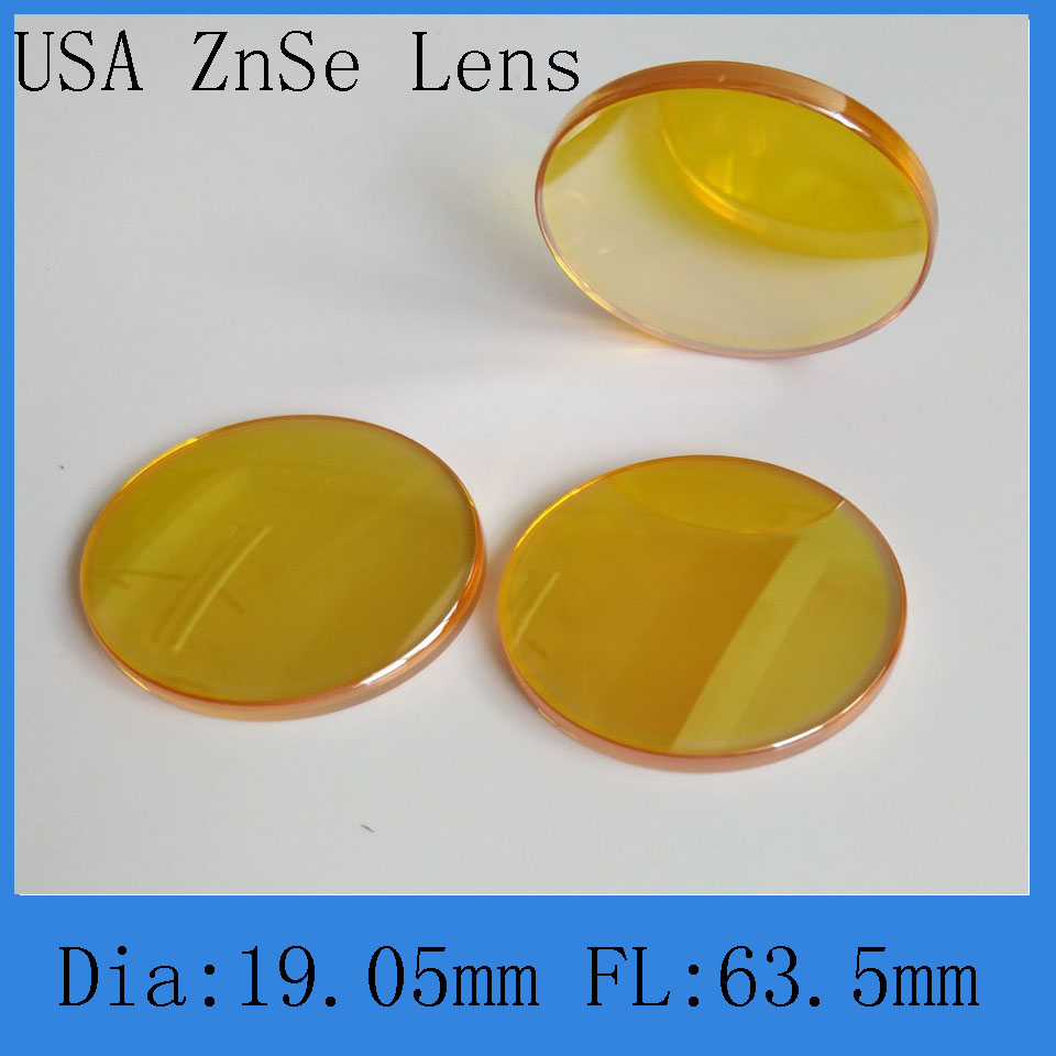 High Quality Co2 Laser Focus Lens 19.1-63.5mm Diameter And Focal  For Co2 Laser Engraving And Cutting Machine