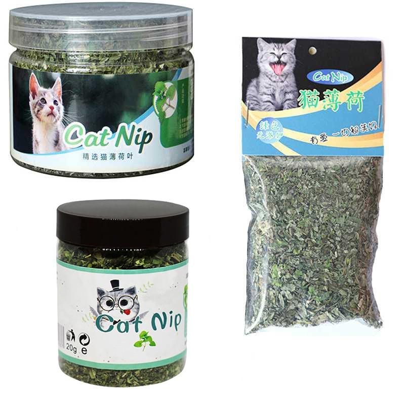 Organic 100% Natural Premium Catnip Cattle Grass 10g/20g/30g Menthol Flavor Funny Cat Toys