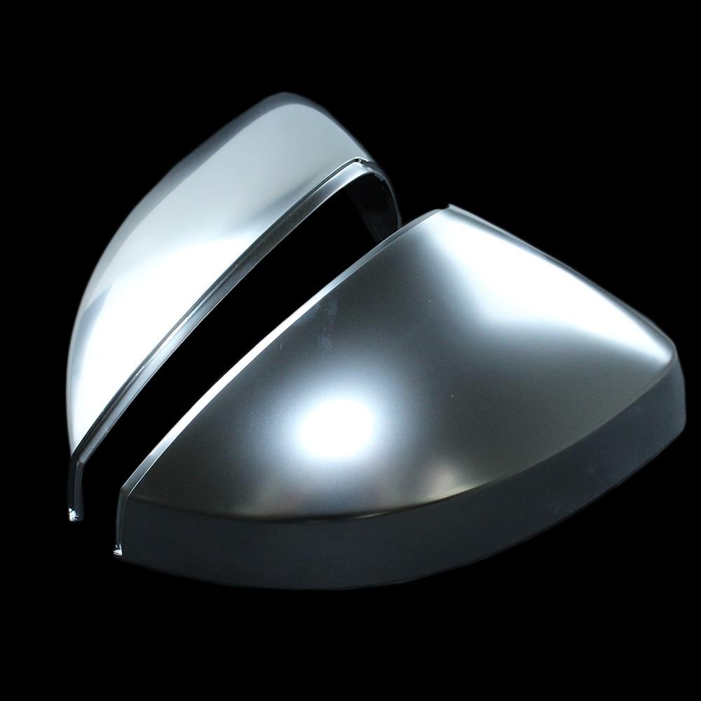 1Pair Matt Chrome Side Mirror Cap Housing / Cover For Audi A3 S3 RS3 L+R 2013 2016 Auto parts Replacement