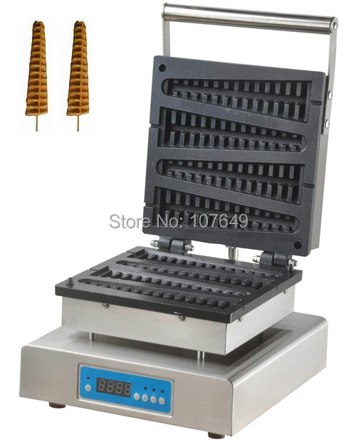 110V 220V Commercial Use Electric Digital Lolly on a Stick Waffle Maker Iron Machine commercial non stick 110v 220v electric lolly waffle on a stick iron machine baker maker