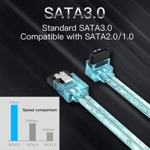Tions Sata 3,0 7pin Daten Kabel Super Speed SSD HDD Sata III Rechten Winkel Festplatte für ASUS Gigabyte MSI Motherboard