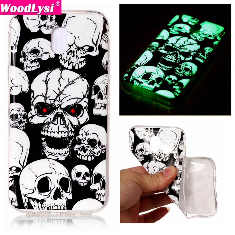 Galleria fotografica Luminous Painting Case for Samsung galaxy J3 2017 J330 Glow in the Dark Soft TPU Silicone IMD Phone Cover Case