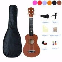 21 inch Ukulele For Beginners Hawaii 4 String Guitar Ukelele for Children Kids Girls with Carring Bag Spare String Pick Tuner