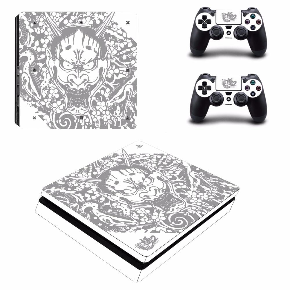 Yakuza Kiwami 2 PS4 Slim Haut Aufkleber für Sony PlayStation 4 - Spiele und Zubehör