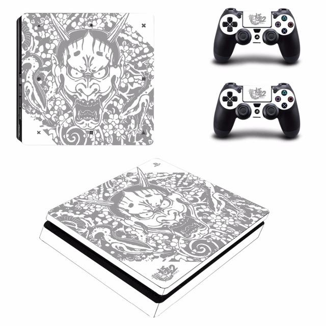 Yakuza Kiwami 2 PS4 Slim skóry naklejki dla Sony PlayStation 4 konsola i 2 kontrolery PS4 Slim skórki naklejka naklejka winylu