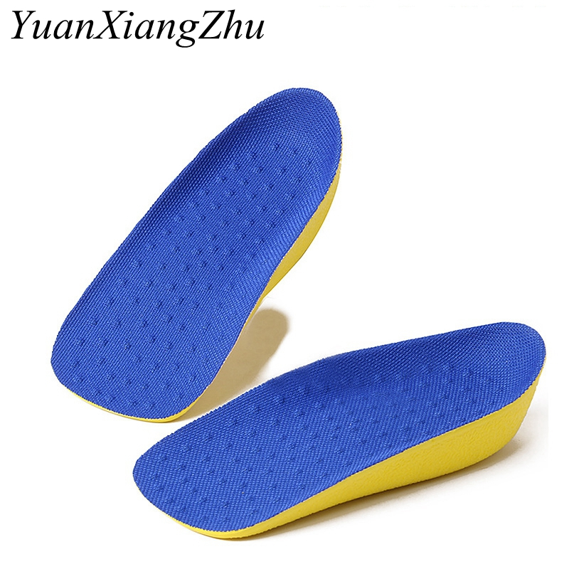 Increased insole, stealth movement for men and women, breathable deodorant half insole height cushion