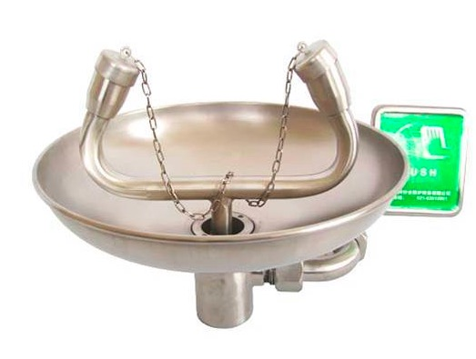 New Arrival 304 Stainless Steel Emergency Wall Mounted Eyewash Station