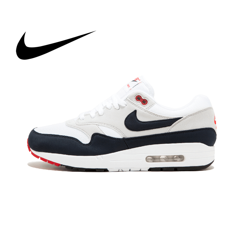Original Authentic Nike AIR MAX 1st Anniversary Men's Running Comfortable Outdoor Breathable Sports Shoes Classic 908375-104