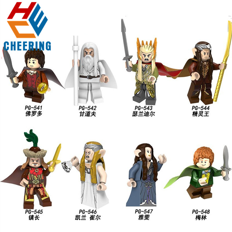 Single Sale The Lord Of The Rings King Of The Elves Frodo Merlin Galadriel Building Blocks For Children DIY Toy Gifts PG8148