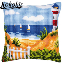 DIY embroidery needlework sets embroidered mats fabric scenic throw pillow knitting needles
