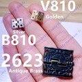 10 unids 8*10mm/26*23mm de Latón Antiguo Joyero Muebles Bisagra Bisagra 26x23mm con Tornillos