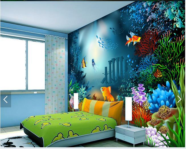 3d wallpaper custom 3d wall murals wallpaper Sea creatures children