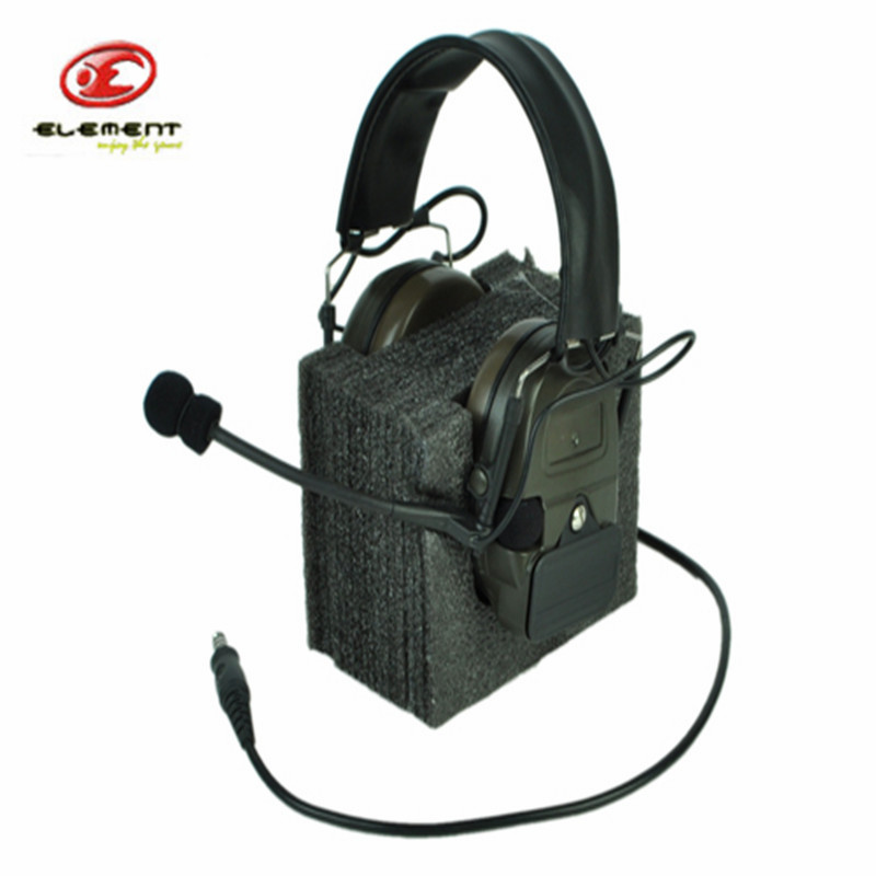 Element Z-Tactical ComTac I Noise Cancelling Reduction headphone without PTT Adapter Noise Reduction Headset -OD z tactical military headset headphone airsoft radio comtac ipsc od for ptt military radio z 111