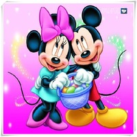 Embroidery With Crystals DIY Diamond Painting Mickey Mouse Stab Cross Stitch Embroidery Painting Sewing Diamonds