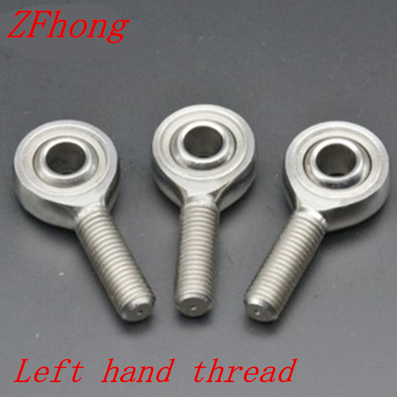 1pc 6mm 8mm 10mm 12mm 14mm 16mm 18mm 20mm 22mm 25mm stainless steel  left hand male thread rod end bearing