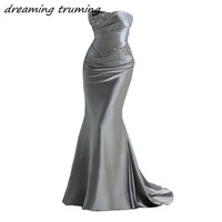 2018 Elegant Mermaid Evening Dresses Party Gowns Beading Cheap Long Women Lady Special Occasion Formal Prom