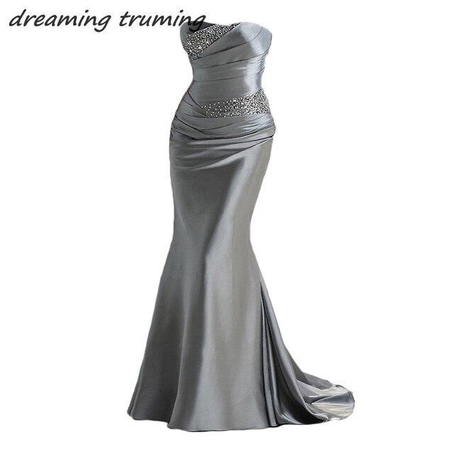 2018 Elegant Mermaid Evening Dresses Party Gowns Beading Cheap Long ...