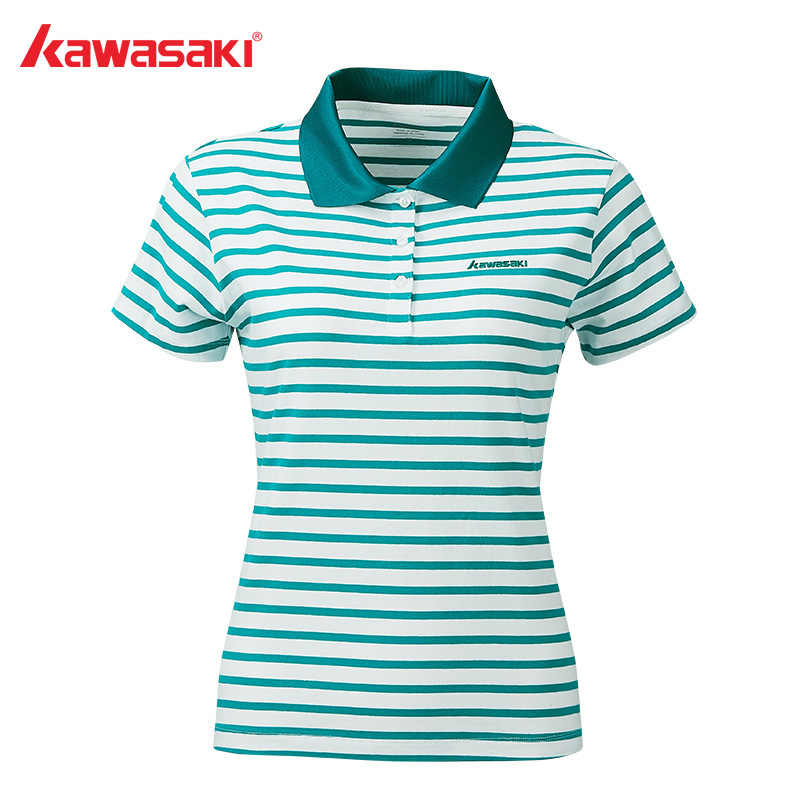 Kawasaki Badminton Shirts Women Tennis Shirt Breathable Short-sleeved T-Shirt For Female Gray T-shirt ST-S2117