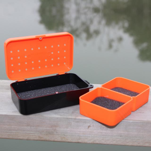 Small Orange Tackle Box 2 Compartments