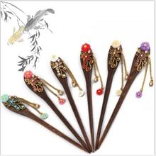 Reto Fashion Haiepin Color Random Hair Sticks Bride Rhinestone Hairpin Hair Accessories Jewelry Bridal Hair Retro Hairpin