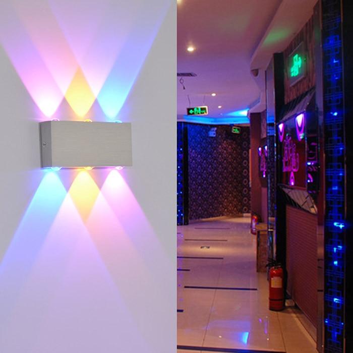 LED კედლის შუქები 6W ფერადი - შიდა განათება - ფოტო 2