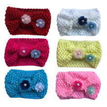 1pc Baby Girls Knitted Crochet Turban Stretch Flower Warm Headband Head Wrap Hairband  Hair Accessories