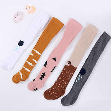 Baby pantyhose explosion models tights baby autumn pantyhose wind children's tights cotton pink tree print pantyhose stockings-in Tights & Stockings