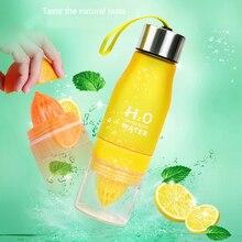 Xmas Gift 650ml Infuser Water Bottle plastic Fruit infusion Kids Drink Outdoor Sports bottle Juice lemon Portable Kettle недорого