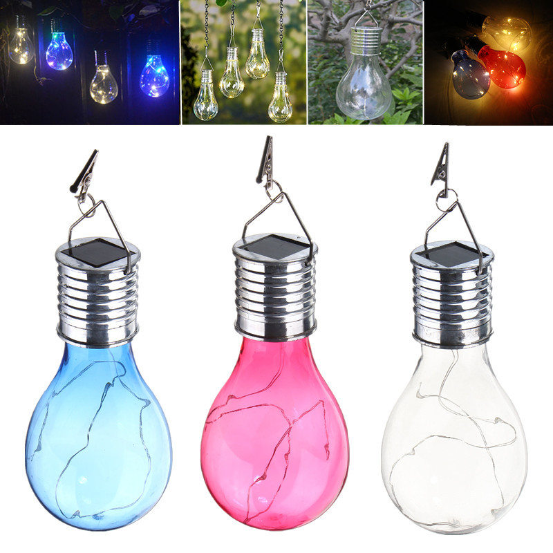 Smuxi 0.6W Solar Power LED Bulb Night Light Outdoor Garden Camping Hanging Rotatable Lamp Warm White Pendant Lighting