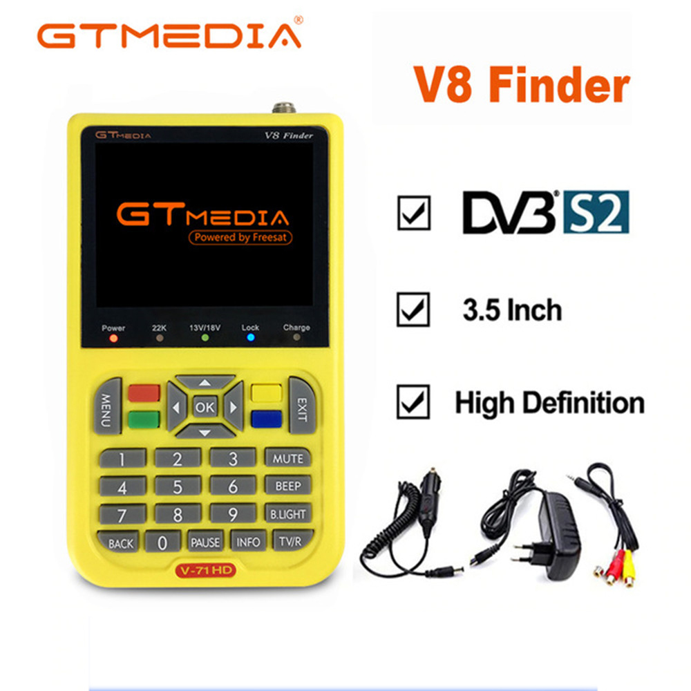FREIES SAT V8 Finder Satelliten signal Finder V 71 HD DVB S2 MPEG 2/MPEG 4 FTA Digital Satellite meter 3,5 zoll LCD display satl