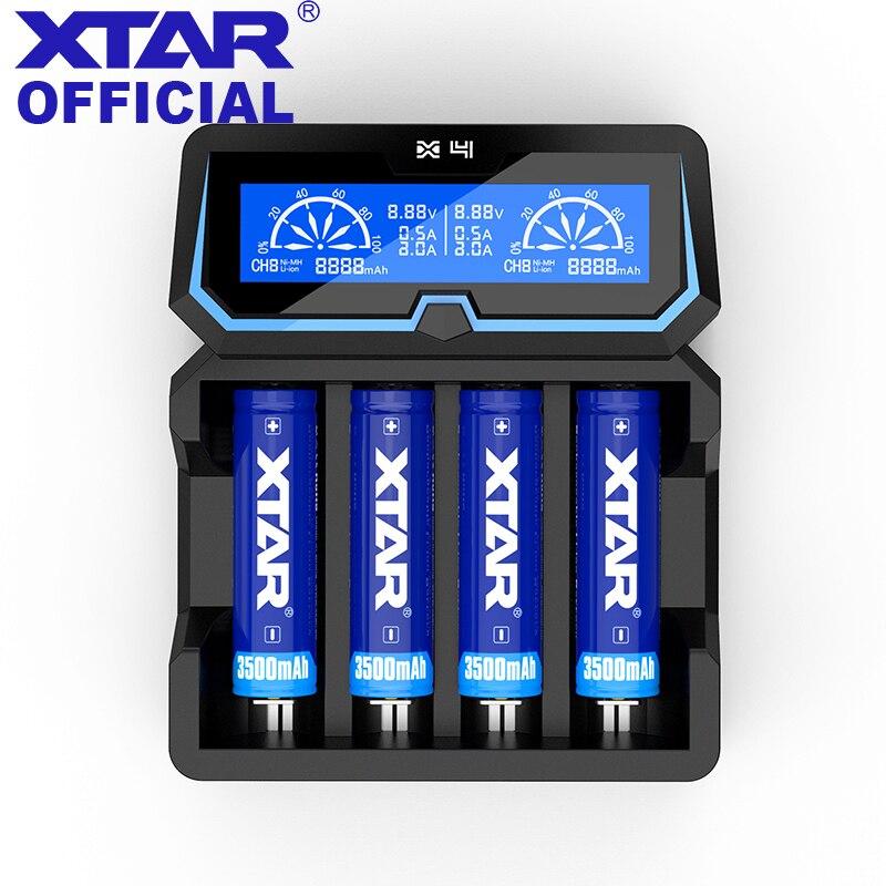 XTAR X4 Chargeur Pour 14500/14650/16340/17335/17500/17670/18350/18490/ 18500/18700/22650/26650/18650/20700/21700 Batterie De Charge