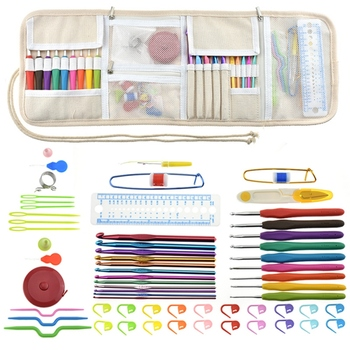 Cross Stitch Set Crochet Tool Set Owl 63 Piece Set DIY Handmade Wool Knitting Weaving Sewing DIY Knitting Tools
