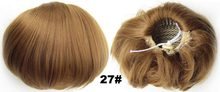 Synthetic Elastic Bride Hair Bun Wig Hair Chignon Roller Ponytail Q9 Hepburn's Hairpieces 34 kinds of colours available 1pc(China)