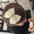 2 Pcs Boutique Pearl Hair Bows For Sweet Girls White Rhinestone Hairbows With Alligator Clip Lovely Pearl Hair Accessories