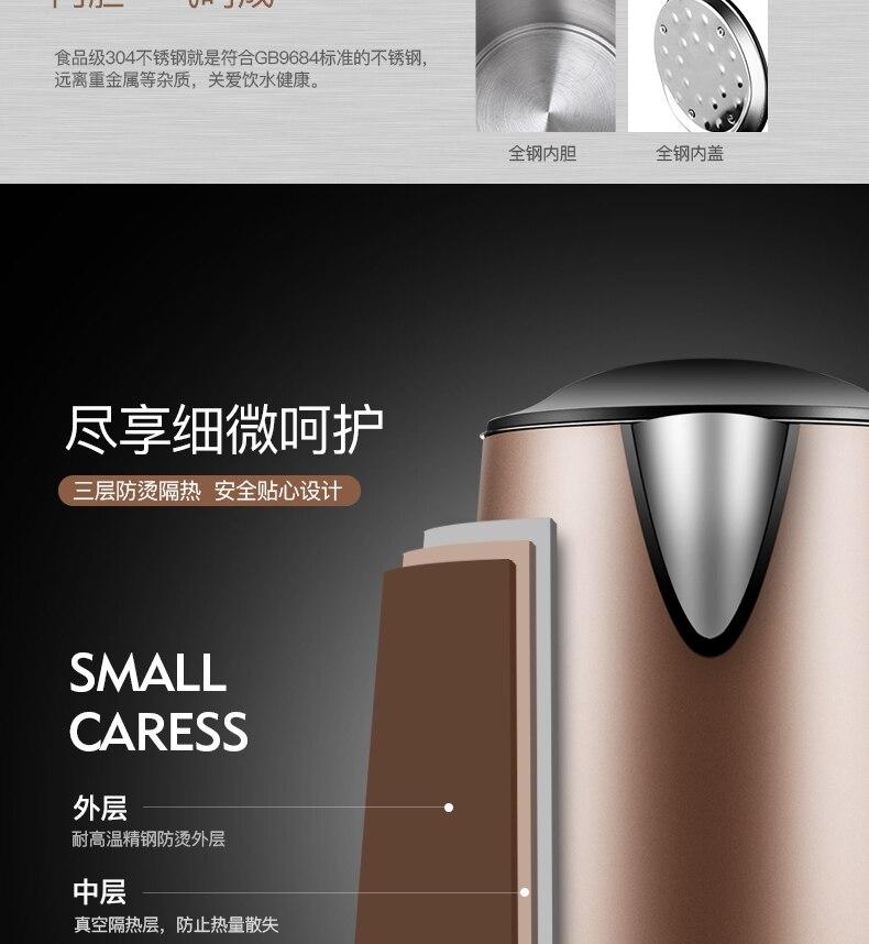 NOVA chaleira Elétrica ebulição pote de chá