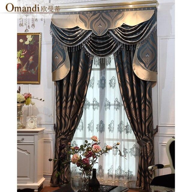 Fashion classical curtain quality faux silk jacquard curtains ...