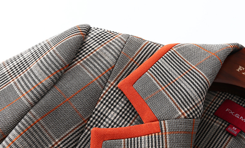 vent Col Section Double Avec Polo Nouveau Treillis Longue Mince Breasted Coupe CQshrtdx