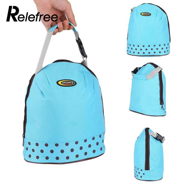 Thermal Insulated Lunch Bag Storage Wave Point Picnic Supplies Portable Picnic Camping Accessories Outdoor