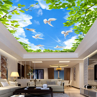 Customized size Ceiling Glass Sticker Windows Film Door Stickers Vintage Art opaque Self Adhesive OR static cling bl27