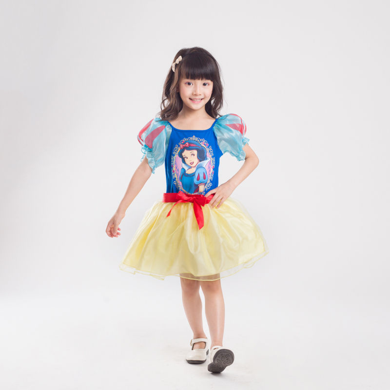 Vocole Girls Kid Fairy Tale Princess Snow White Costume Halloween Birthday Party Cosplay Fancy Dress
